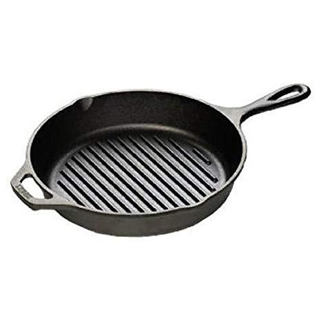 Lodge 10.25吋 圓形橫紋鑄鐵煎鍋 / 牛排鍋
