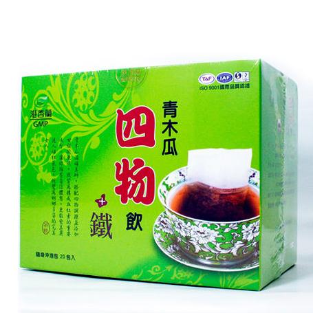 港香蘭 青木瓜四物飲+鐵 20包/盒 公司貨 PG美妝