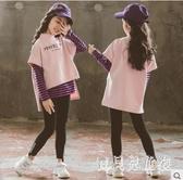 女童套裝 2019秋裝時髦韓版童裝兒童休閑裝中大童運動衛衣套裝 YN1237『寶貝兒童裝』