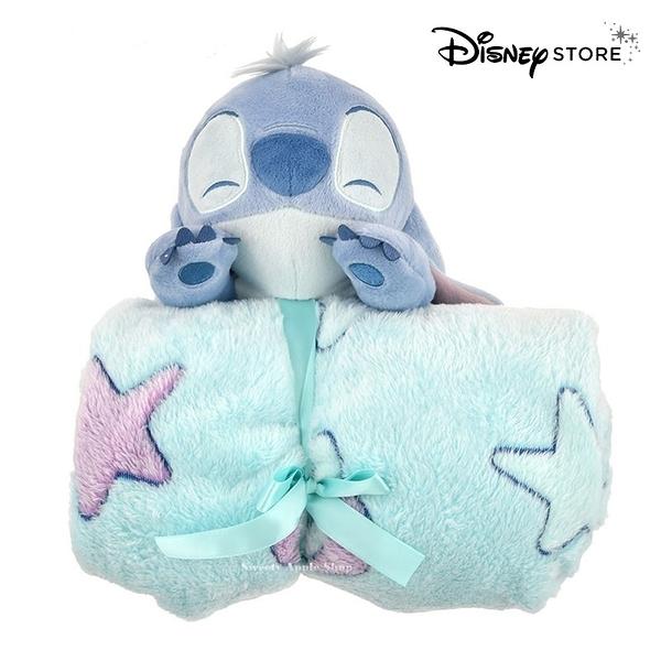 日本限定 迪士尼商店 Disney Store 史迪奇 玩偶折疊收納式 毛毯 / 蓋毯