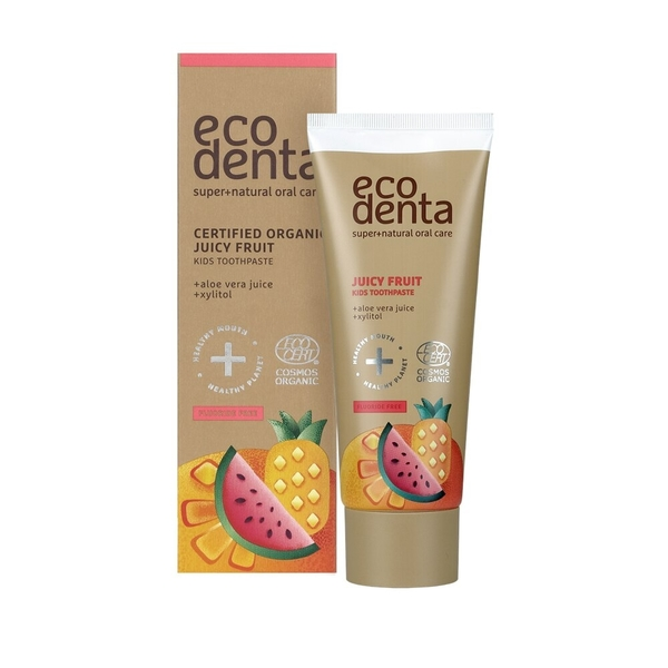 Ecodenta - 認證級 兒童無氟牙膏 水果口味 75ml (無色素)