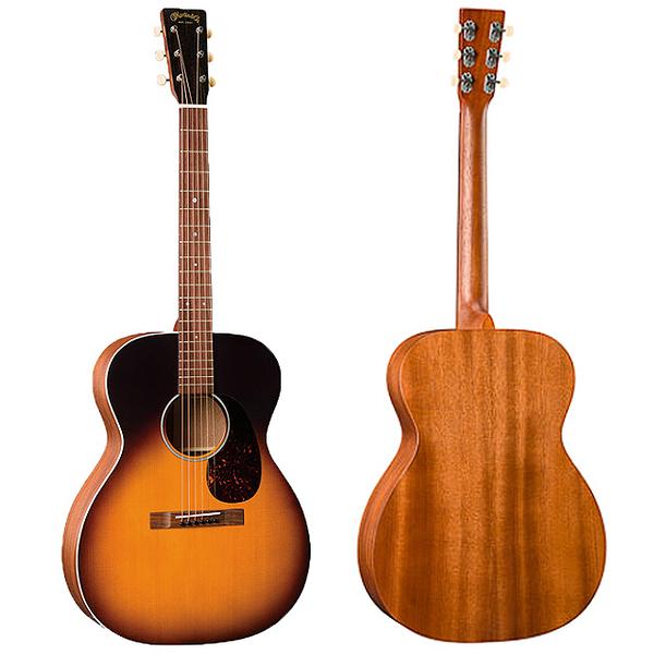 Martin 000-17E Whiskey Sunset 嚴選錫特卡雲杉頂部 桃花心木背側面板電木吉他 - 付拾音器