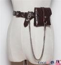 熱賣皮帶包 腰帶腰包女帶鍊條迷你個性小包包裝飾細腰封時尚潮流皮帶包潮【618 狂歡】