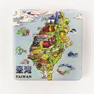 【收藏天地】台灣紀念品*雙面隨身鏡-寶島地標 /小物 送禮 文創 風景 觀光  禮品