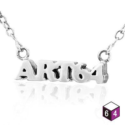 姓名/名字/字母項鍊 立體堆疊-純銀項鍊-64DESIGN銀飾訂製
