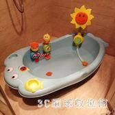 兒童浴盆兒童小孩加厚感溫嬰兒浴盆寶寶卡通洗澡盆可坐躺新生兒塑料 LH3161【3C環球數位館】