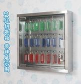 鑰匙箱不銹鋼鑰匙櫃多功能壁掛式汽車鑰匙管理箱子鎖匙收納盒 【低價爆款】LX