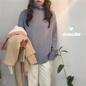 高領毛衣女冬季新款韓版寬鬆外穿慵懶風學生加厚長袖針織上衣 雅楓居