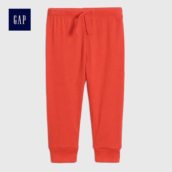Gap男女嬰兒 舒適簡潔休閒長褲 466803-活力熒光珊瑚紅