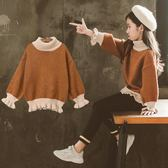 兒童毛衣加絨加厚中大女童毛衣兒童新款洋氣秋裝針織衫套頭童裝打底冬伊芙莎