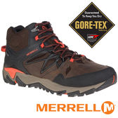 【MERRELL 美國】ALL OUT BLAZE 2 MID 男 GORE-TEX 防水多功能健行鞋『咖啡/橘』ML09389
