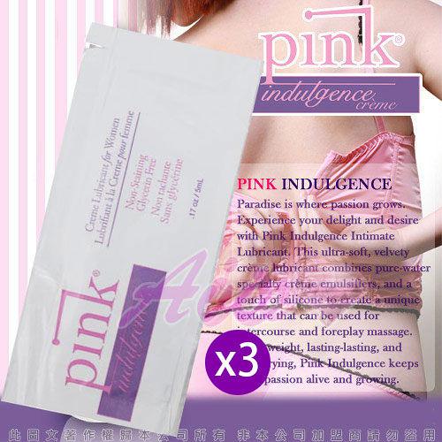 情趣用品 買就送潤滑液♥美國Empowered-Pink Indulgence Creme放縱按摩乳霜5ml3入