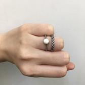 [現貨] 白色雙麻花戒指2件組 MISJ2417 戒指 手飾 配件 金色