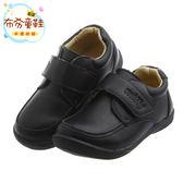 《布布童鞋》Miffy米飛兔經典黑色男童皮鞋(16~19.5公分) [ L7H075D ] 黑色款