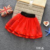 兒童半身裙網紗蓬蓬裙童裝女童短裙