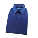 【南紡購物中心】【襯衫工房】長袖襯衫-深藍色底螢光藍點點
