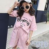 童裝 舒適棉質英文字母運動套裝 女童-Joanna Shop
