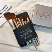 12支化妝刷鐵盒套裝 初學者全套專業彩妝美妝修容工具套刷子『新佰數位屋』