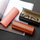 眼鏡盒  手工眼鏡盒男女款盒韓國小清新學生太陽鏡盒女簡約眼睛盒  coco衣巷