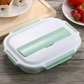 麥元素分格保溫飯盒日式便當盒單層1分隔學生成人餐盒【萬聖節8折】