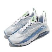 Nike 休閒鞋 Air Max 2090 藍 銀 男鞋 氣墊 特殊紋路 半透明鞋面設計 運動鞋 【ACS】 CZ8693-011