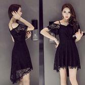 女裝時尚性感燕尾禮服顯瘦大碼連身裙