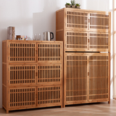 竹韻美學日式六門三層收納櫃-生活工場