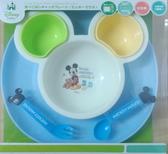 日本迪士尼造型餐具圓托盤組6件入-粉藍米奇 -超級BABY