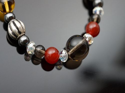紅玉髓&赤鐵礦&白水晶&茶水晶&黃水晶&防古銀配件,生肖猴的守護者。N97