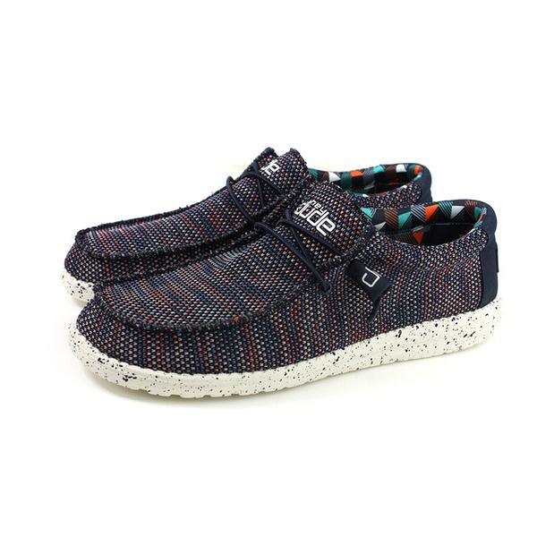 Hey Dude 休閒鞋 帆船鞋 帆布 深藍 彩色編織 男鞋 HD2032-805 no018