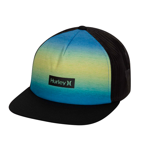 Hurley M PRINTED SQUARE TRUCKER PACIFIC BLUE 棒球帽(男女)