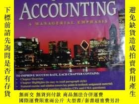 二手書博民逛書店英文原版罕見Cost Accounting: A Manager