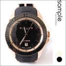 現貨 華麗巴洛克 時尚手錶 韓國品牌特殊膠錶帶日期錶【AW4105】-SAMPLE