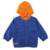 【愛的世界】戶外郊遊純棉束袖釘釦口袋連帽長袖外套/2~4歲-台灣製- ★春夏外套