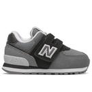 New Balance 574 W 童鞋 小童 休閒 慢跑 麂皮 復古 黑 灰【運動世界】IV574WR1