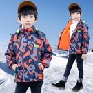 男童外套 兒童裝男童外套秋款新款三合一可拆卸運動洋氣加絨刷毛春秋沖鋒衣