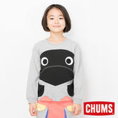 CHUMS 日本 童 Booby 圓領套頭衫 淺灰 CH201017G005