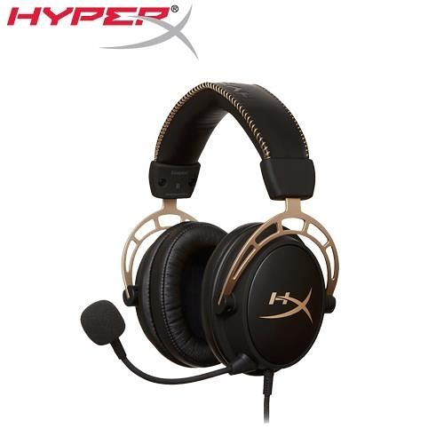 HyperX 金士頓 Cloud Alpha專業電競耳機金色限量版 (HX-HSCA-GD/NAP)【加碼送 音效卡及桌曆】