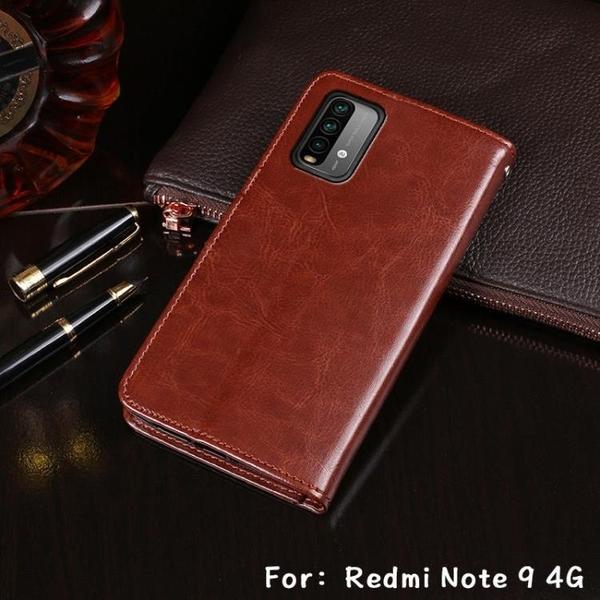 新品特價 適用Redmi Note9 4G翻蓋皮套插卡錢包支架紅米note9Pro 5g手機套
