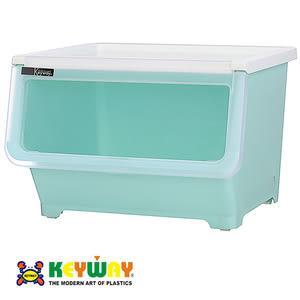 KEYWAY 粉漾直取式收納箱 38L 藍色 型號BQ617-1