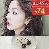 耳環 彩色 鑲鑽 造型 百搭 氣質 耳環【TSNR713】 BOBI  01/19