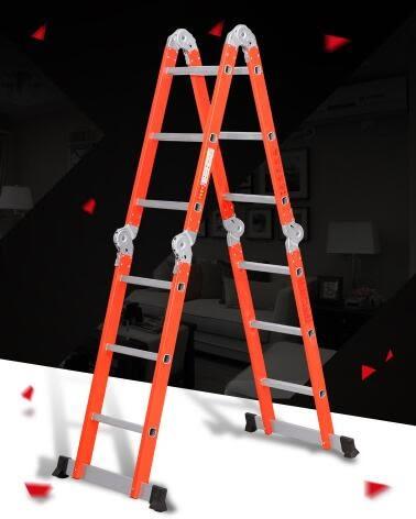 加厚多功能工程梯折疊家用梯子KM2177『伊人雅舍』