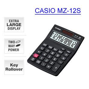 [奇奇文具]【卡西歐 CASIO 計算機】卡西歐CASIO MZ-12S 桌上型計算機(12位數)