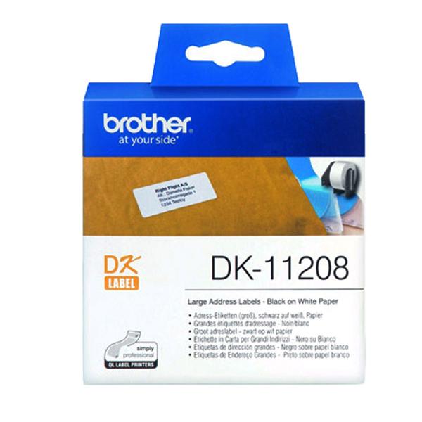 【高士資訊】BROTHER 38x90mm DK-11208 耐用型紙質 白底黑字 原廠 定型標籤 標籤帶