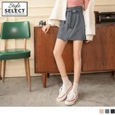 《KG0930》造型大口袋後鬆緊綁帶不對稱A字短裙 OrangeBear