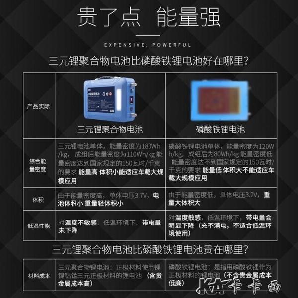12v伏大容鋰電池組大容量60聚合物100ah動力專用逆變器蓄電池電瓶 【快速出貨】