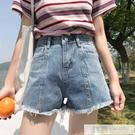 韓版200斤高腰牛仔短褲女夏季大碼胖mm學生顯瘦寬鬆闊腿a字熱褲潮 韓慕精品