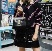 ■專櫃74折■全新真品■Chloe Mini 迷你 Annie 鎖頭金鍊2用包 黑色