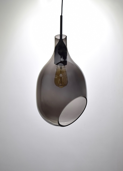 VESSEL 斜口玻璃煙灰色吊燈-BNL00127