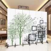 辦公室現代簡約折疊中式行動折屏實木布藝六扇-高1.8米寬2.4米